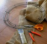 Burlap Wreath Tools