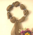No Sew No Glue Burlap Wreath by rlc