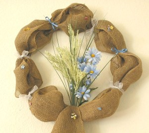 Burlap Wreath Summer by RLCA