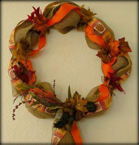 Fall Burlap Wreath by RLC