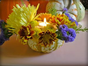 pumpkin bouquet candle by rlc