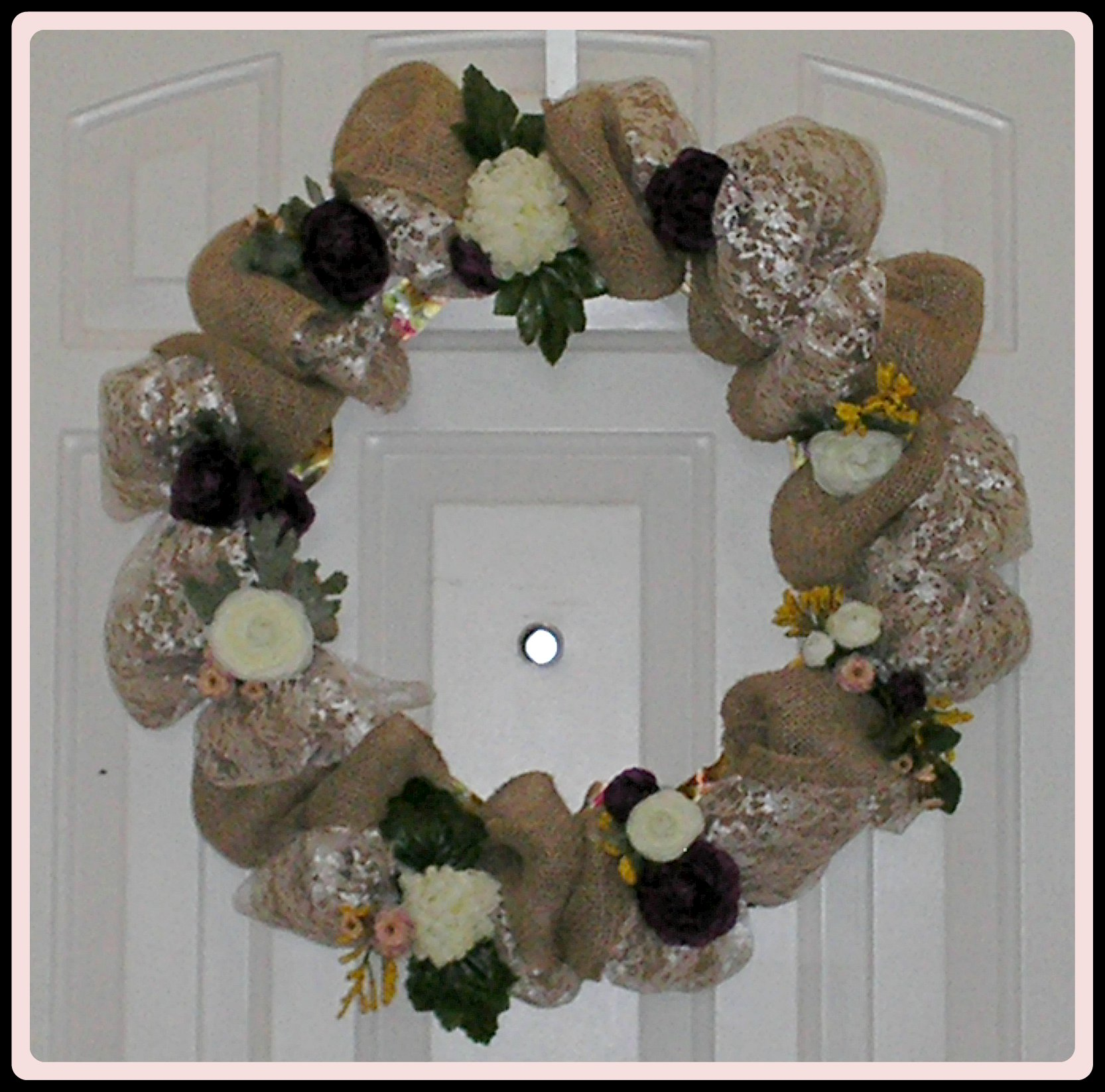 Diy burlap wreath museiddity mothers day wreath by rlc solutioingenieria Gallery